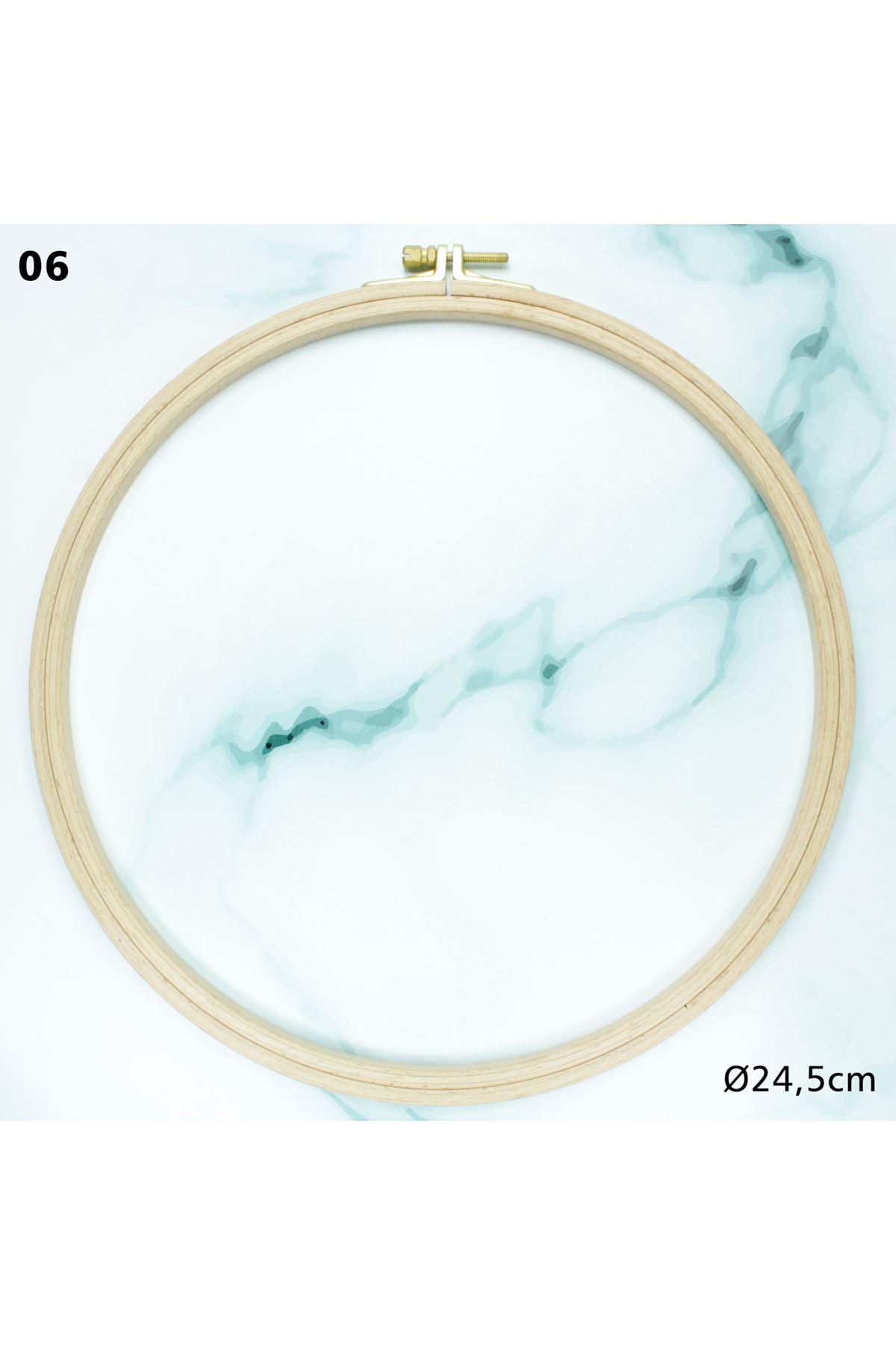 Vidalı Ahşap Kasnak 24,5 cm