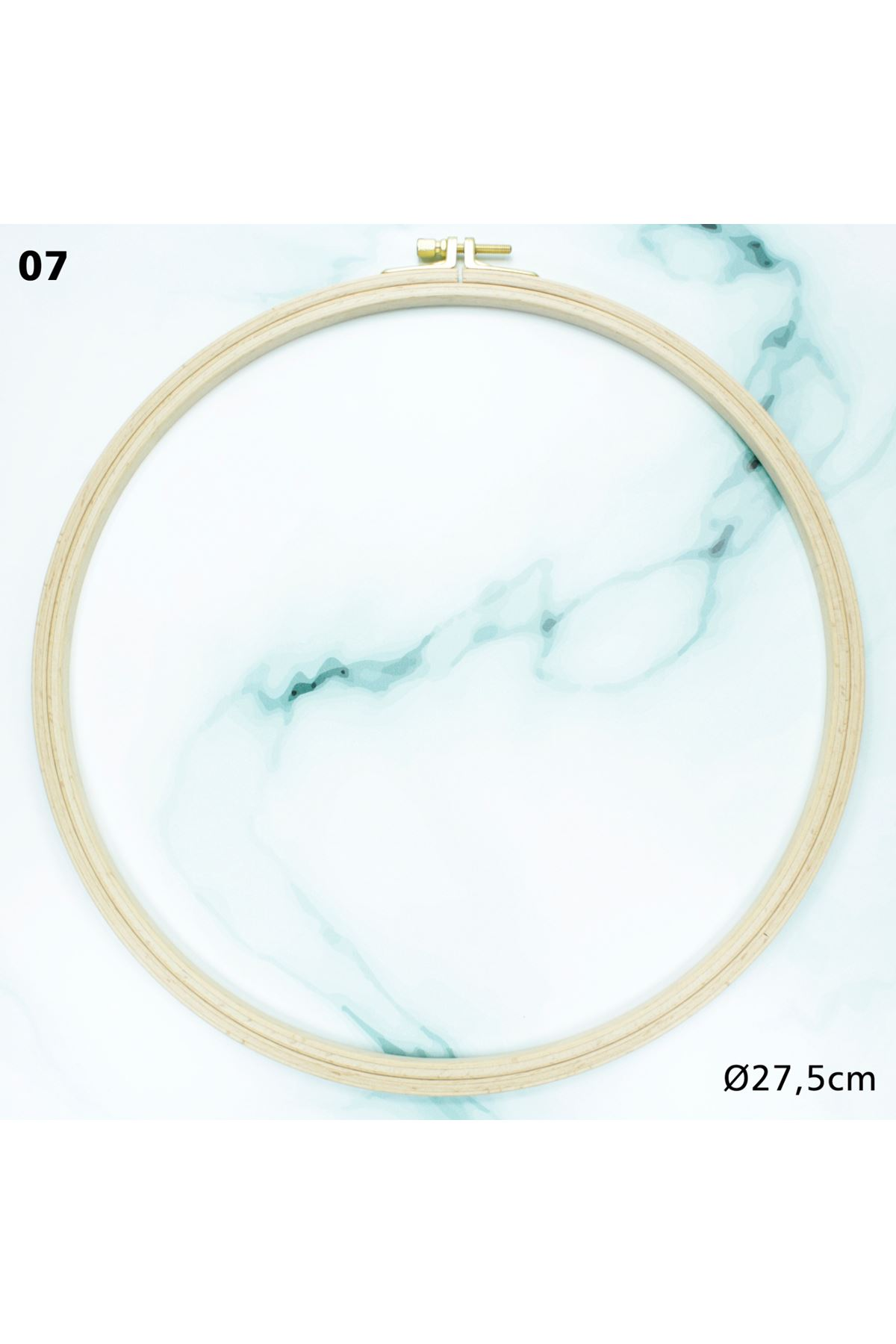Vidalı Ahşap Kasnak 27,5 cm