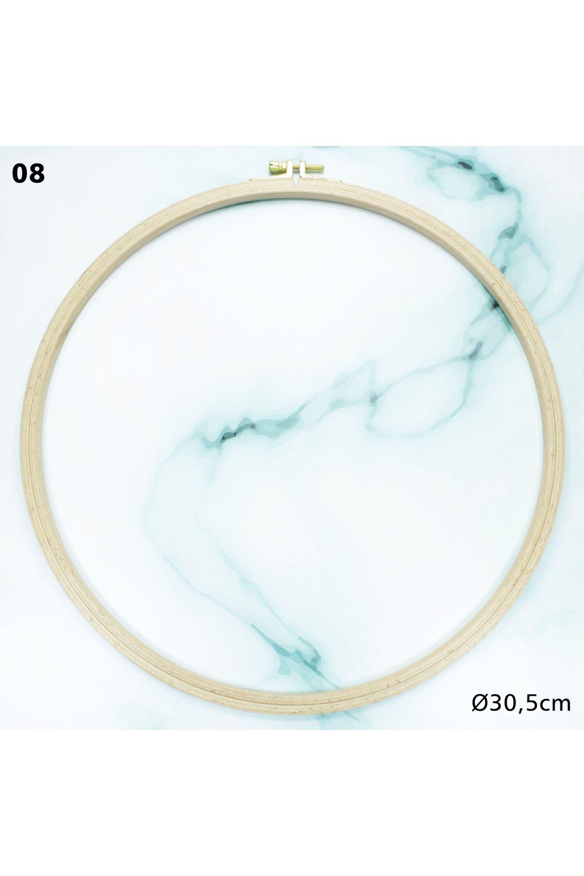 Vidalı Ahşap Kasnak 30,5 cm