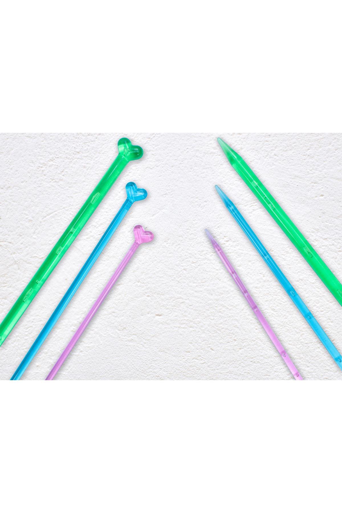 Renkli Plastik Örgü Şişi