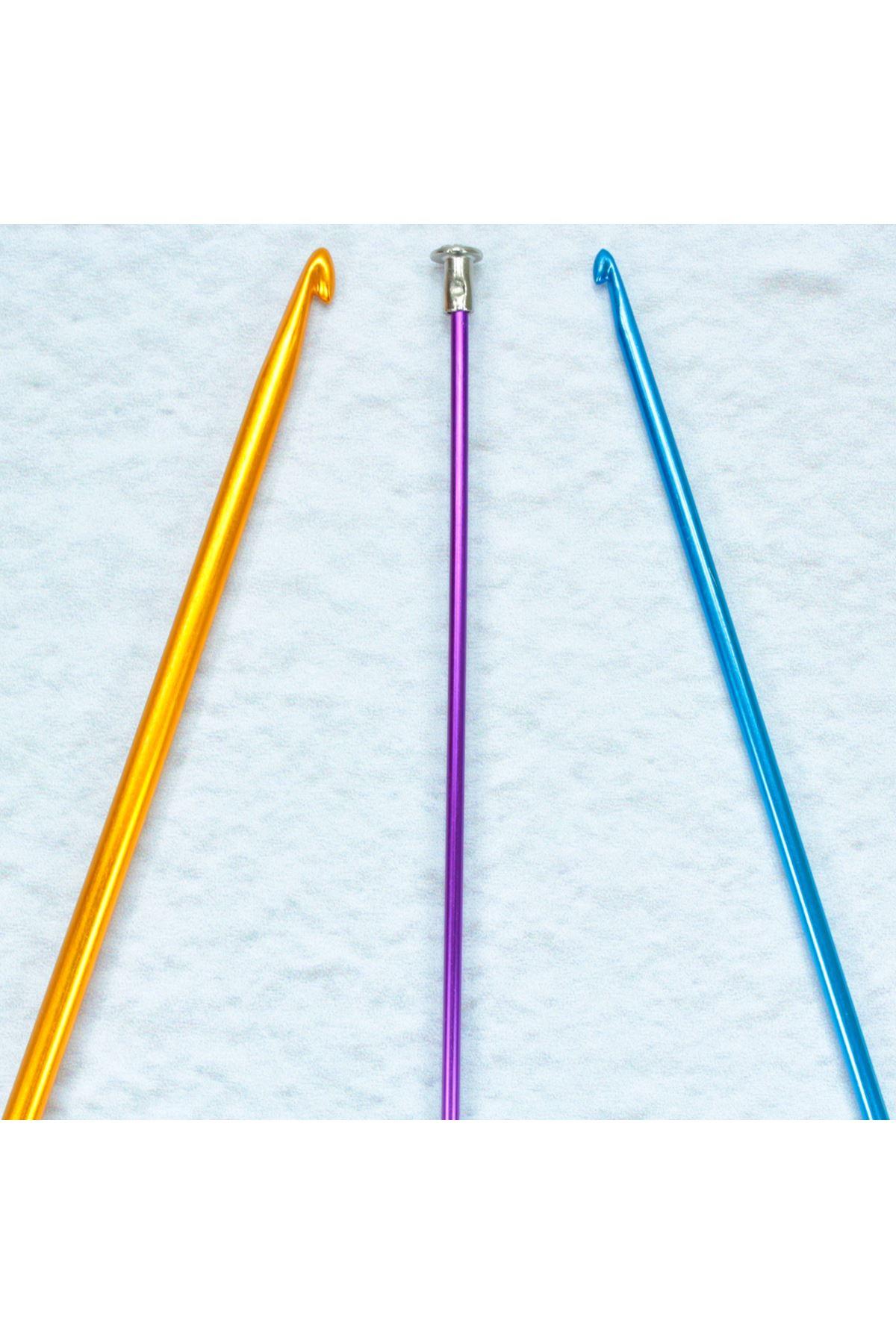 Renkli Metal Gagalı Şiş 35 cm