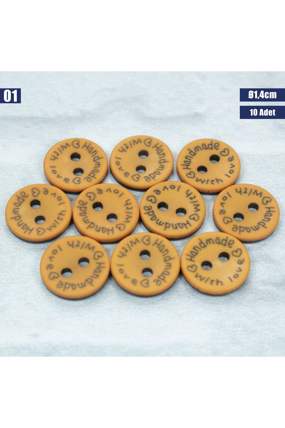 Amigurumi Düğmesi Ø 1,4cm - 01