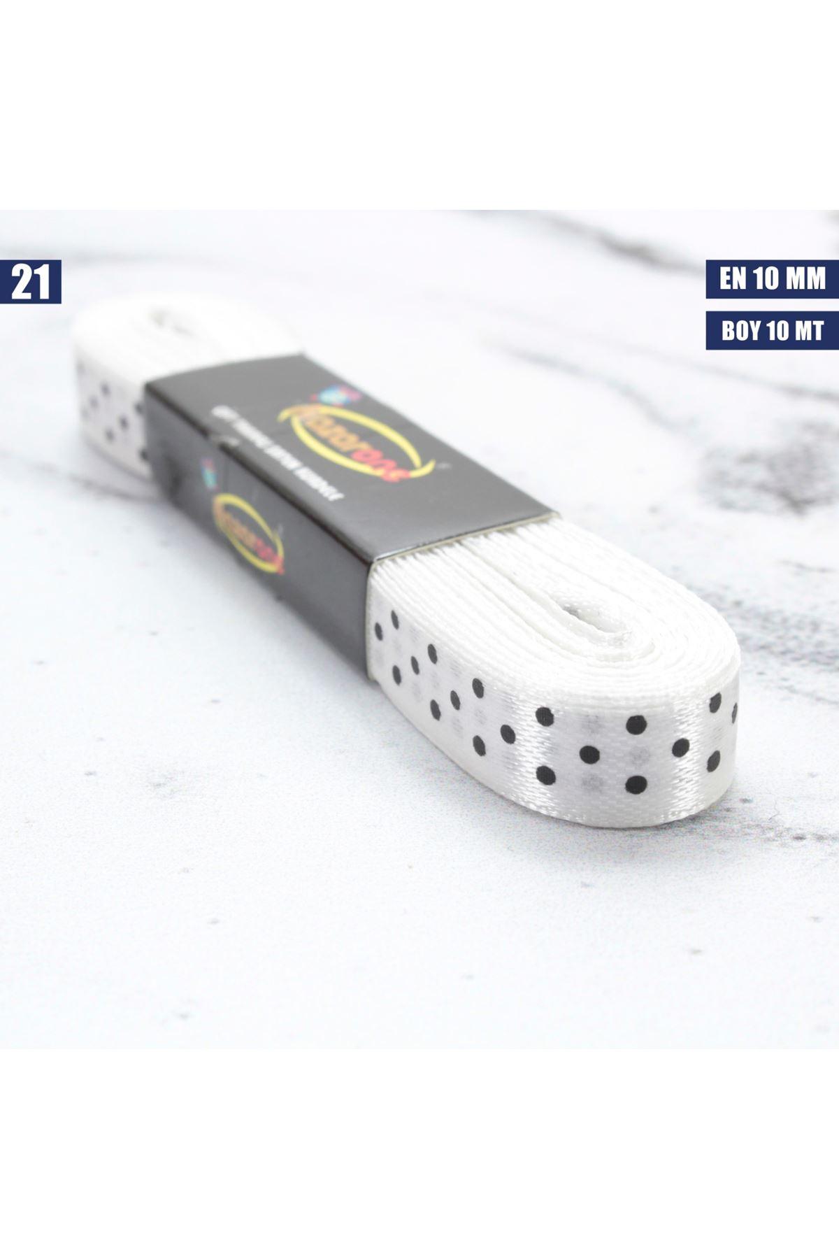 Puanlı Saten Kurdele - 10 mm - 21