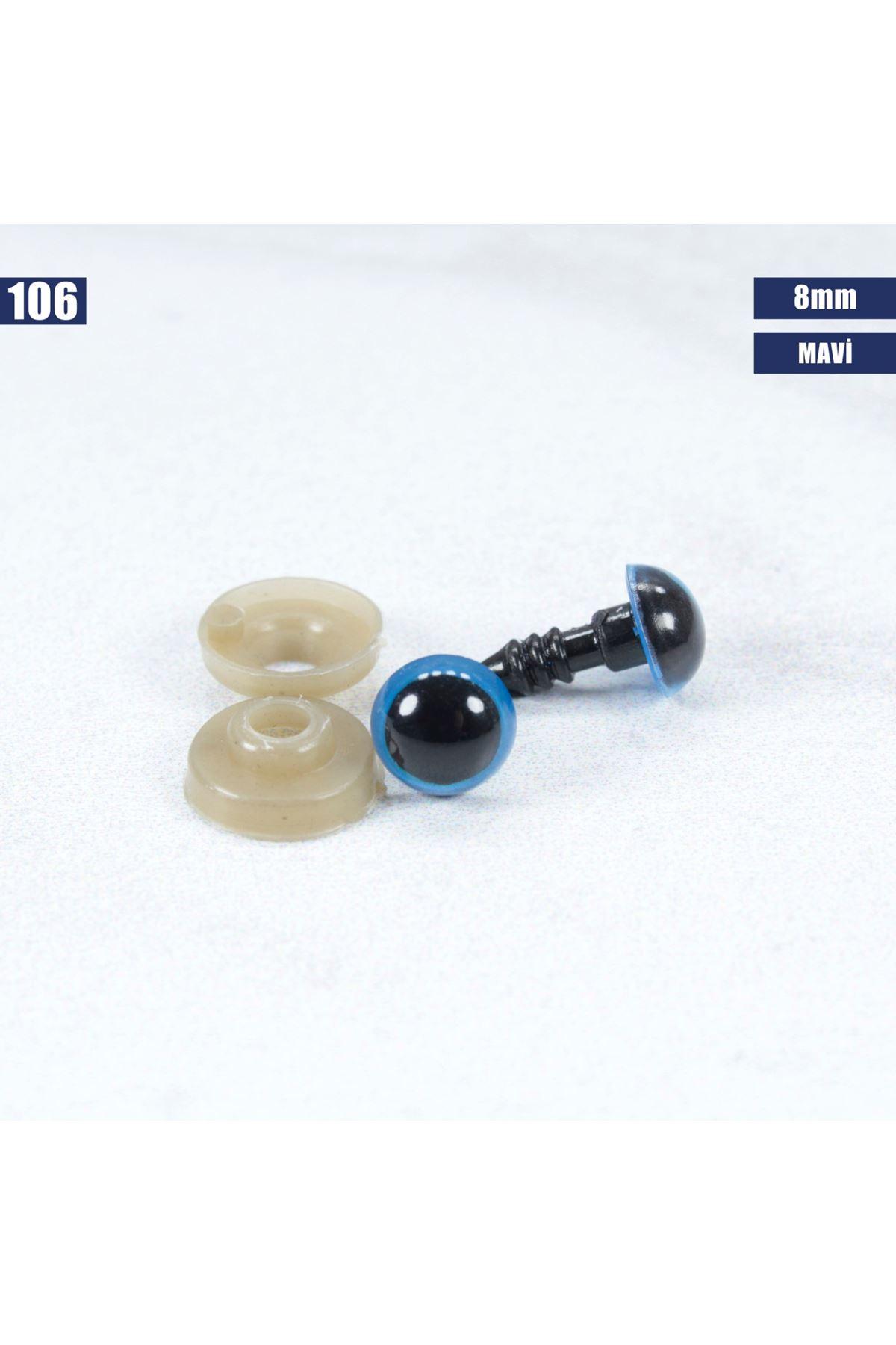 Mavi Vidalı Göz 8 mm - 106