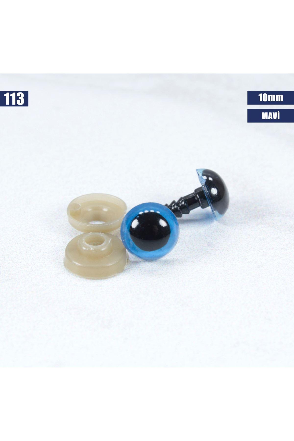 Mavi Vidalı Göz 10 mm - 113